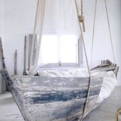 Floating Boat Daybed: Suspended Sleeping  Several Examples and a DIY!