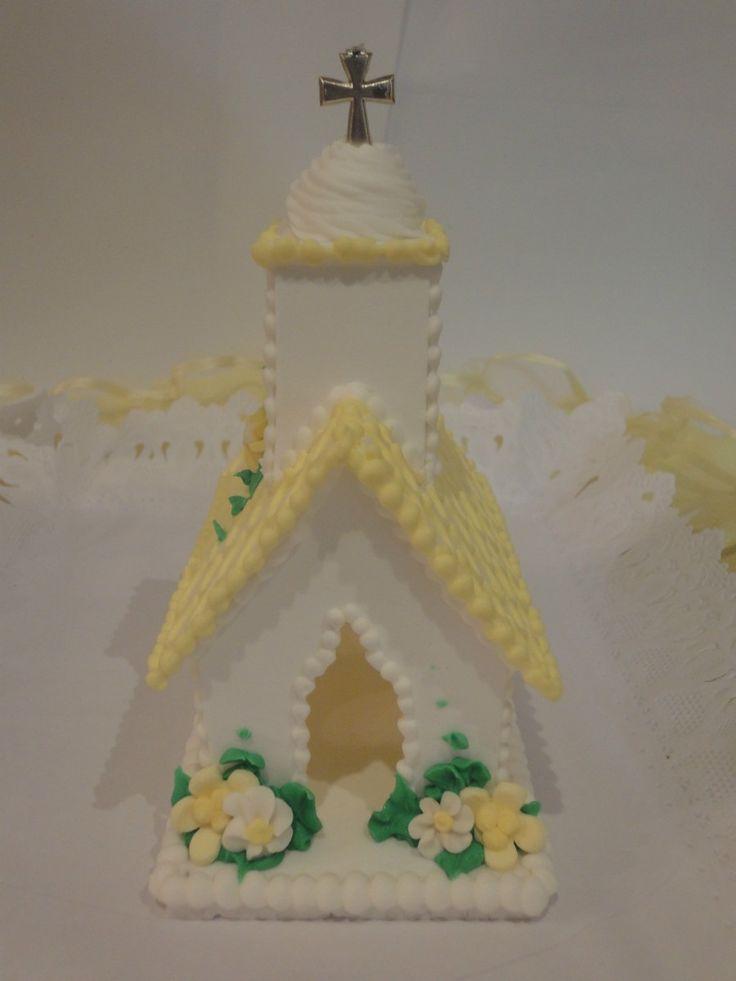 capilla de comunion o bautismo, adorno de torta