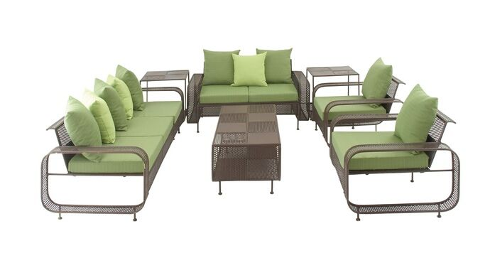 Chic Set Of Seven Metal Outdoor Set.  Modernly Styled, This Contemporary Outdoor Set Will Definitely Change The Setting Of Your Outdoors. Constructed Of Good Quality Metal, The Set Comprises Of Two Chairs, Two Couches One Centre Table And Two Side Tables. Arrange It In The Law Or Make It A Part Fop Your Patio Setting And It Will Be Apt To Have Long Conversations With Family Members And Loved Ones During Leisure Days. Comfortable To Sit, The Side Table Can Be Utilized To Hold Books, A...