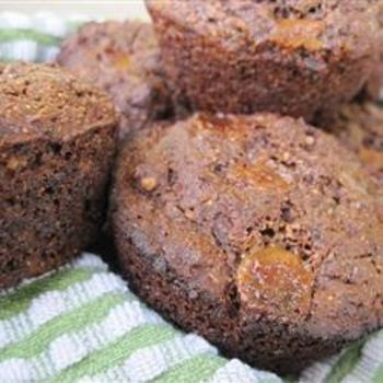 Irresistible Double Chocolate Muffins: Chocolate Muffin Recipes, Flax Seeds, Chocolates Muffins Recipe, Double Chocolate Muffins, Wheat Flour, Wheat Germ, Whole Grains, Irresist Double, Double Chocolates Muffins