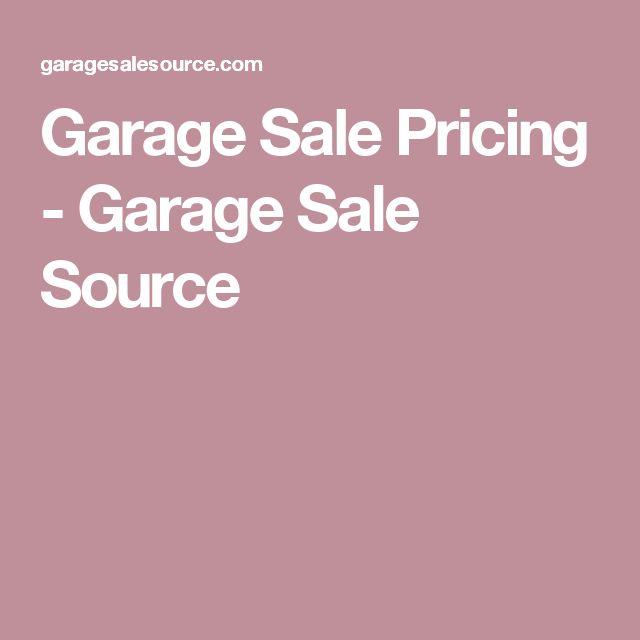 Garage Sale Pricing - Garage Sale Source