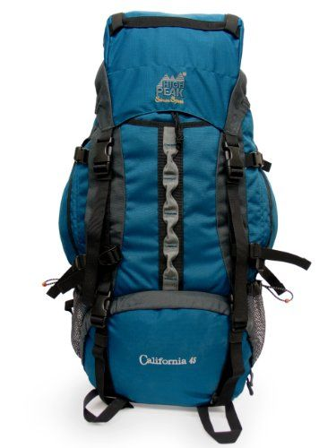 Cool! :)) Pin This & Follow Us! zCamping.com is your Camping Product Gallery ;) CLICK IMAGE TWICE for Pricing and Info :) SEE A LARGER SELECTION of Internal Frame Backpacks at http://zcamping.com/category/camping-categories/camping-backpacks/internal-frame-backpacks/  #camping #backpacks #campinggear #campsupplies -  High Peak California 45 Internal Frame Backpack 3250 cu in (53L) « zCamping.com