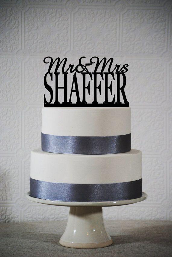 Last Name Wedding cake topper