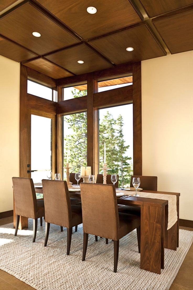 Elegant Dining Room Design With Natural Wooden Chairs And Table