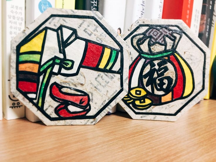 한지공예 전통문양 컵받침