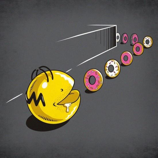 Pac-Man x The Simpsons - New Eating Habits par Eduardo San Gil