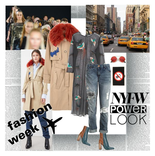 NYFW Power Look by stylepersonal on Polyvore featuring polyvore, fashion, style, MANGO, Sans Souci, Jil Sander, Anya Hindmarch, ZeroUV, TAXI, Lana Mueller, clothing and NYFW