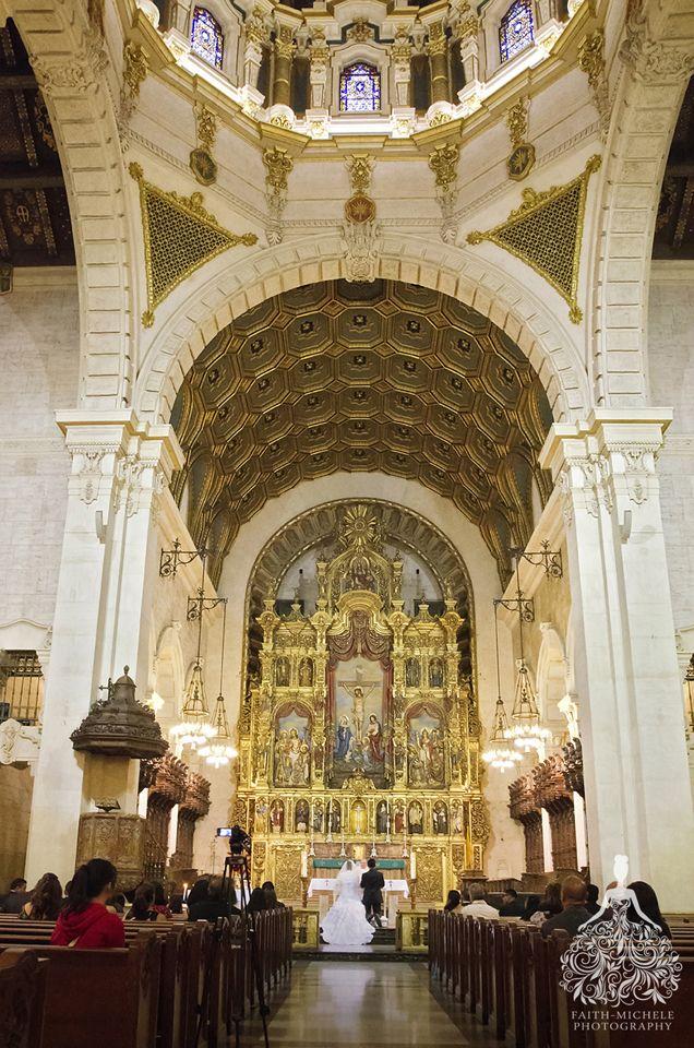 Fashion inspired fuchsia pink and yellow wedding, St. Vincent de Paul Catholic Church wedding venue, Los Angeles wedding photographer http://faith-michele.com/joav-manuel-at-st-vincent-de-paul-church-los-angeles-wedding-photographer/