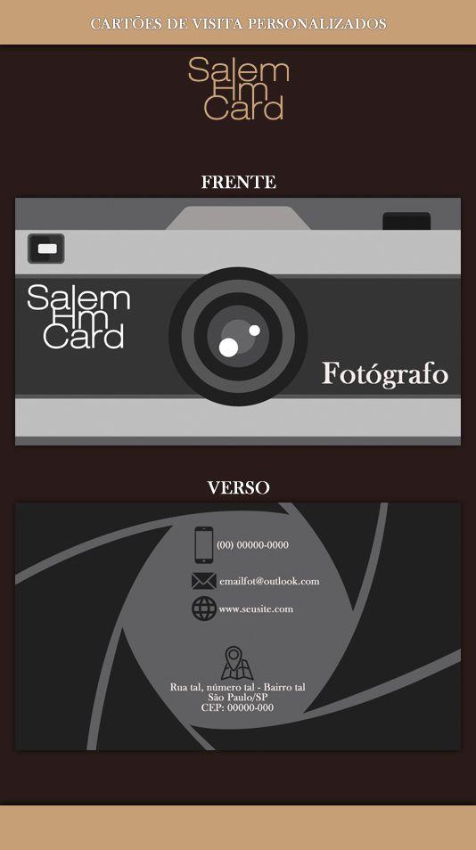 Cartão de Visita - Modelo 1 - Fotografia #CartãodeVisita
