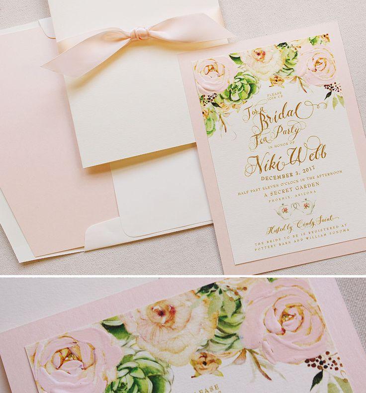 simple diy bridal shower invitations%0A Cindy S   Peach Peony Bridal Shower Invitations