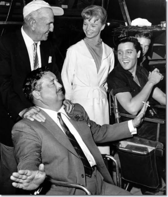 elvis presley and jesse garon presley | The Great One, Jackie Gleason, visits The King on the set of