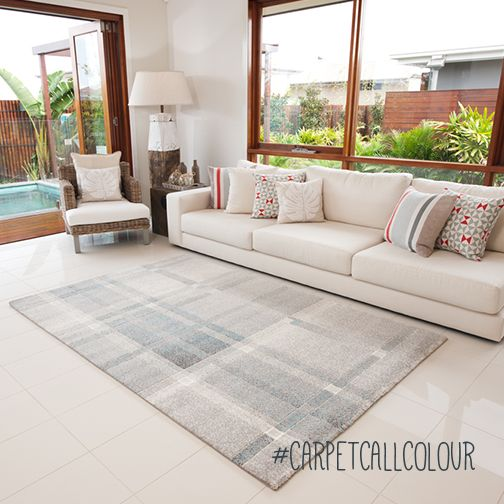 The pure and peaceful white represents innocence and simplicity, the perfect way to add a rug without overloading the room.  |  http://www.carpetcall.com.au/blog/8-colour-meanings-to-help-you-choose-the-perfect-rug/