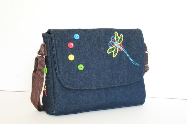 A personal favorite from my Etsy shop https://www.etsy.com/listing/223225068/denim-messenger-bag-with-embroidered
