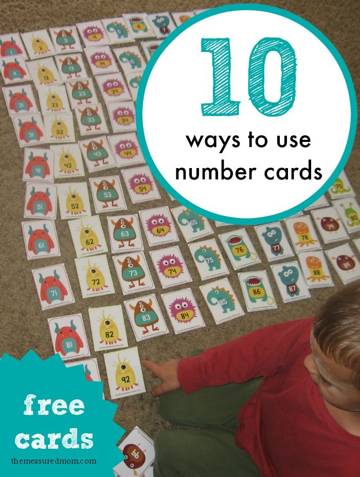 Print out these adorable monster number cards to give your child practice working with numbers 1-100!