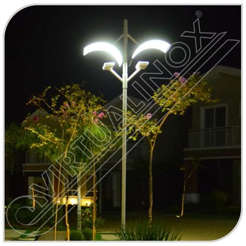 Poste de Luz Indireta Duplo com 3 ou 6 Metros - LightInox