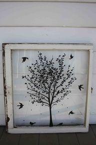 Old Window - Pick your window - Custom Order - Pick your design - Chalkboard - Cork board - burlap - fabric - Chicken Wire - Knobs - Wedding. $75.00, via Etsy.
