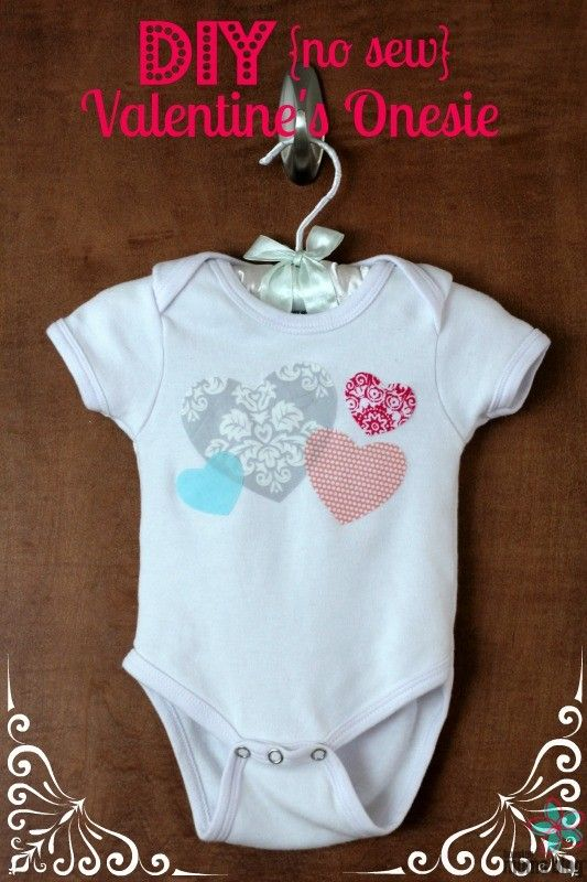 DIY No-Sew Valentine's Onesie | Houston Moms Blog {...great ideas on how to modify it for a little boy included too!}