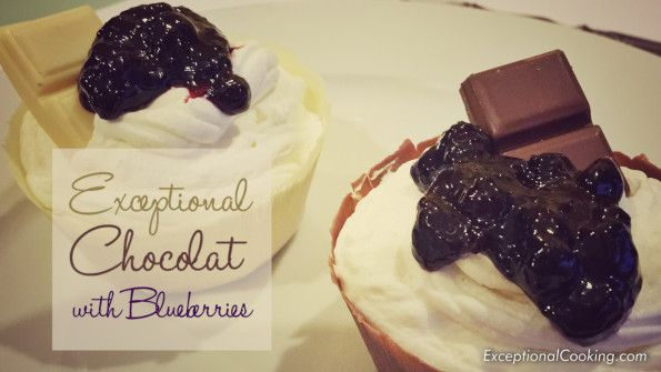 Exceptional Gluten Free Chocolat Cups with Blueberries