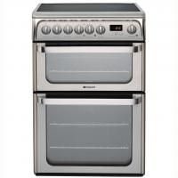 "Powercity HOTPOINT HUE61XS HOTP 60CM DOUBLE OVEN ""ULTIMA SERIES"" COOKER Electric"