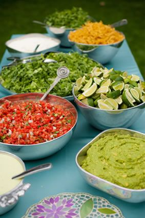 Best 25 mexican buffet ideas on pinterest salsa bar for Cheap wedding canape ideas