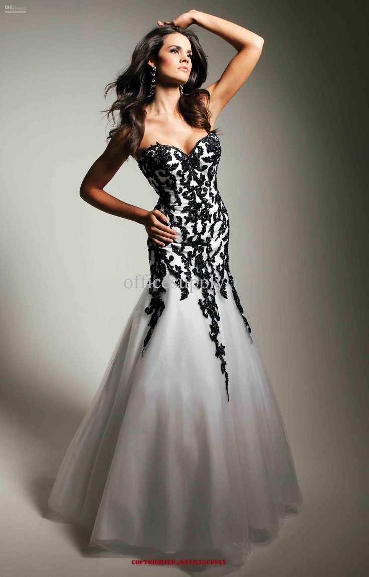 16 best Exclusive Black and White Formal Dresses images on ...