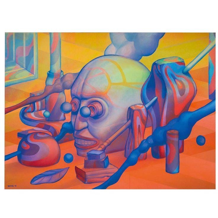 """SHIRIN NAKON"" - Acrylic on Canvas - 120x90 cm. / Available, more info at: gallery@beautyandarts.com"