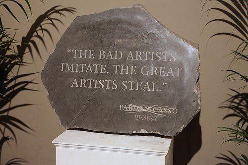 banksy+quotes | Banksy - stolen Picasso quote, Banksy Versus Bristol Museum Summer ...