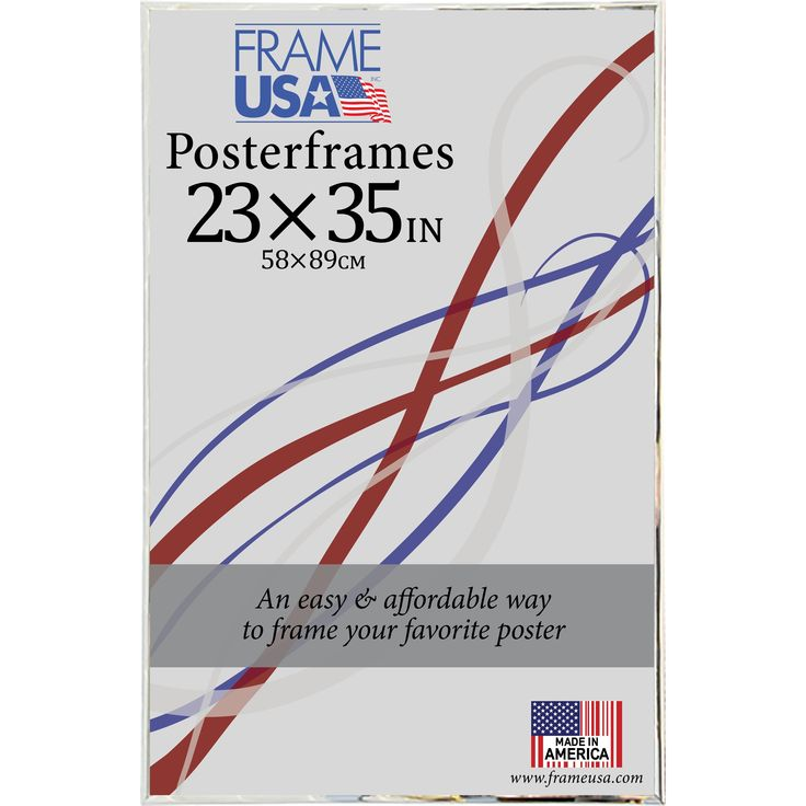 usa hardboard poster frame 23 x 35 inch image size clear
