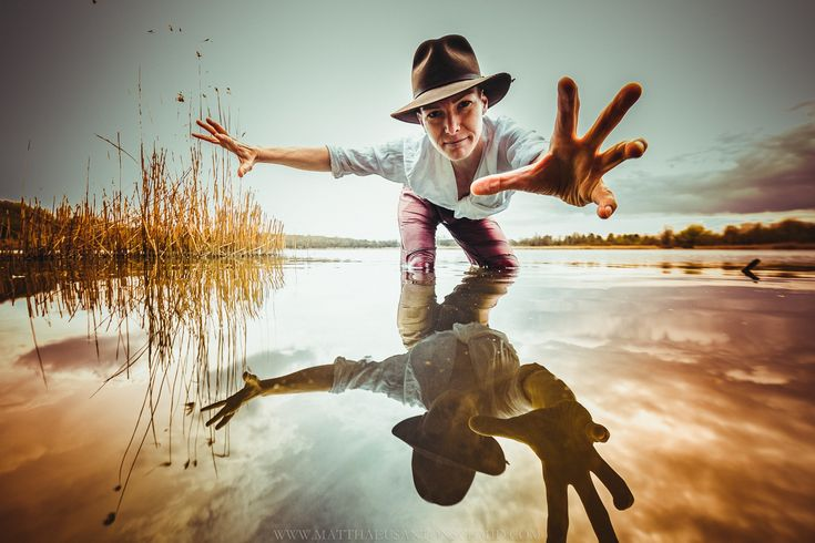 """""""Ingy Jones And The Water Of Moods"""" - how to use an ultra wide angle lens in protrait photography! Thank you Ingrid, thank you Wilco for the titling idea!"""
