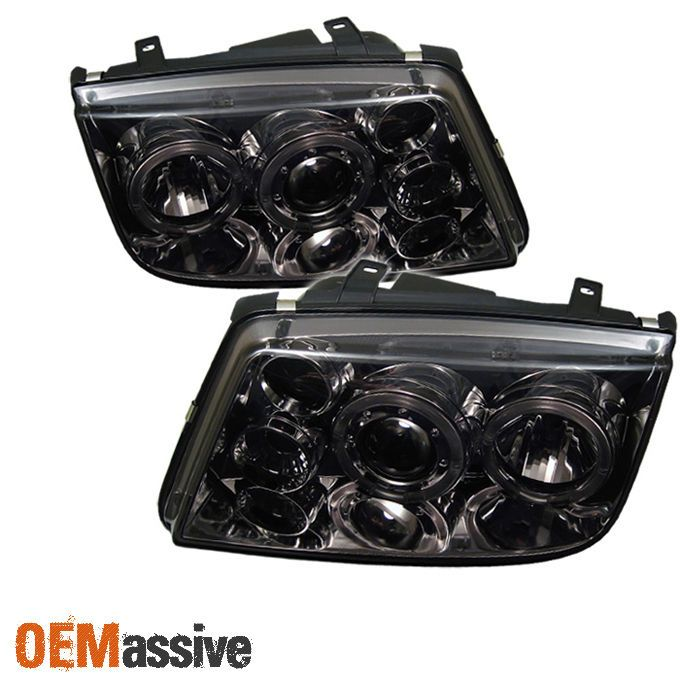 Smoked 1999-2005 Jetta MK4 Halo Projector Headlights Lights Left+Right 2000 2001 | eBay Motors, Parts & Accessories, Car & Truck Parts | eBay!