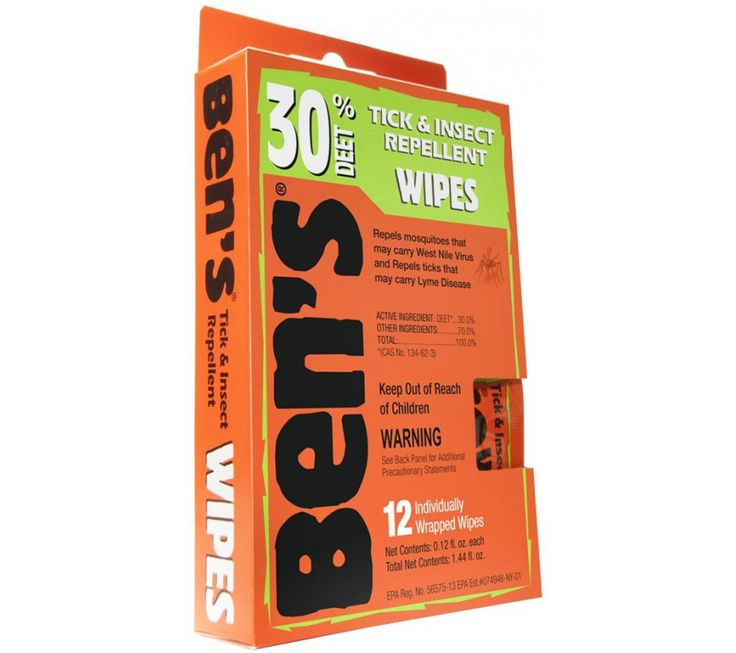 Ben's Tick & Insect Repellent Wipes