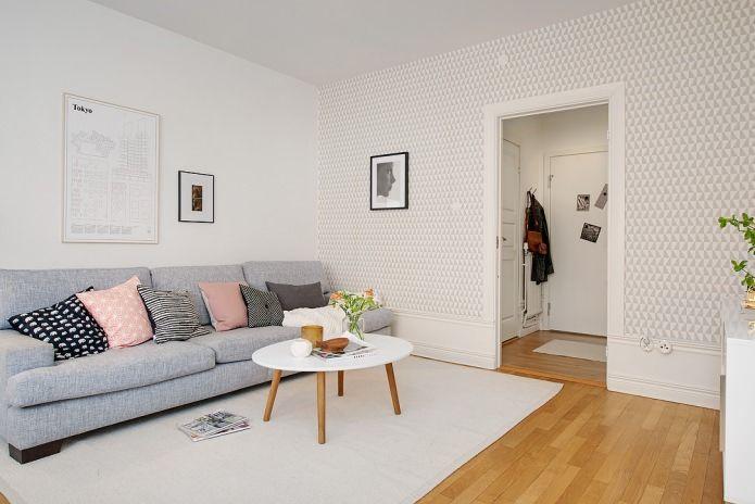 шведский дизайн интерьера гостиной