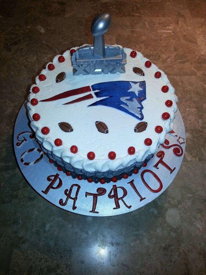1000 Images About New England Patriots Cakes On Pinterest