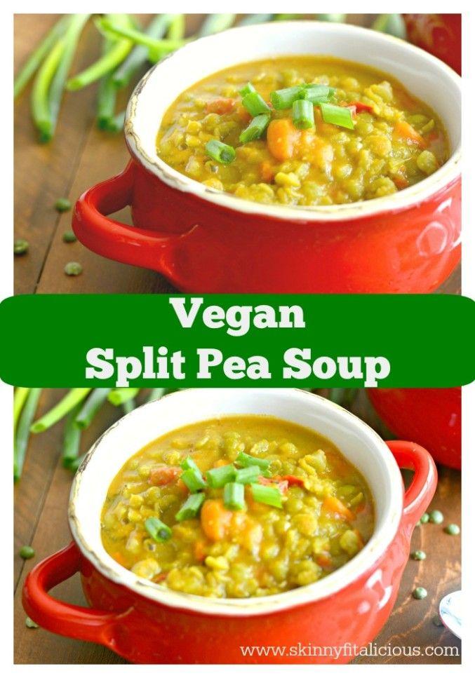 Vegan Split Pea Soup {GF, Vegan, Low Cal} - Skinny Fitalicious