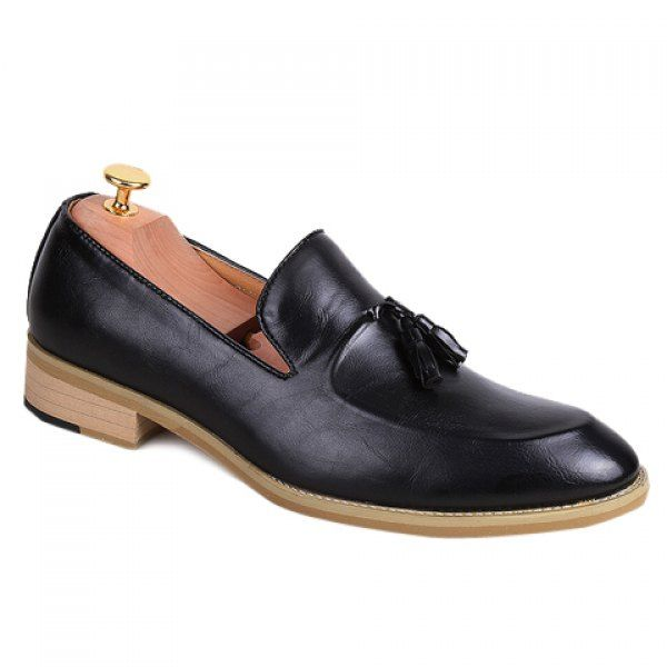 Fashionable Solid Colour and Tassels Design Men's Formal Shoes #men #shoes #fashion #style