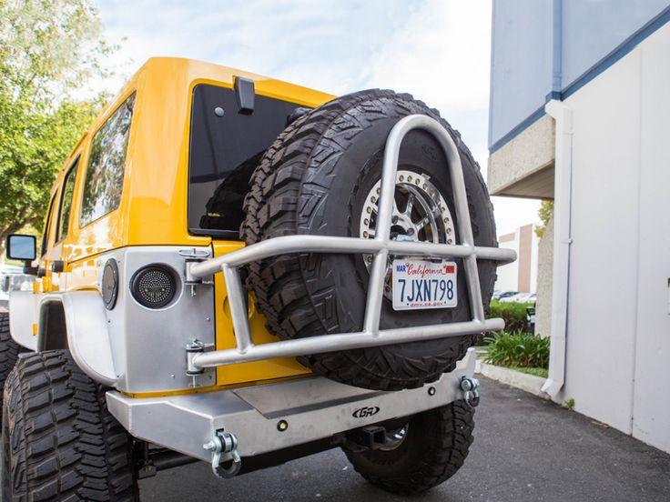 Jeep jk swing out rear tire carrier bumper package