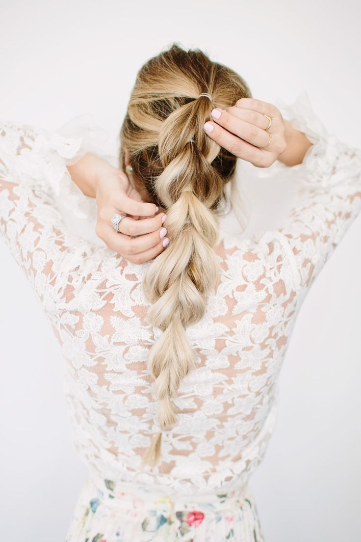Check out this simple, easy-to-recreate pull through braid tutorial. This hairstyle is a lot easier than you think.