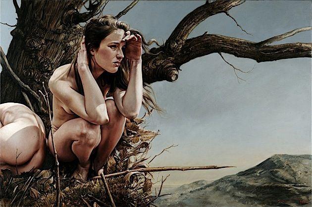 Die Gemälde von Eddie Stevens: Der weibliche Körper im Einklang mit der Natur - detailverliebt.de
