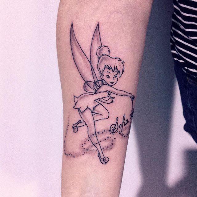 Tinkerbell Punk Tattoo Tattoo Lawas Disney 5