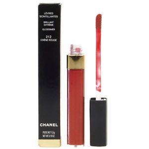 a chanel terrible scintillantes glossmier rojo brillo labial 212 chene rouge caja danada
