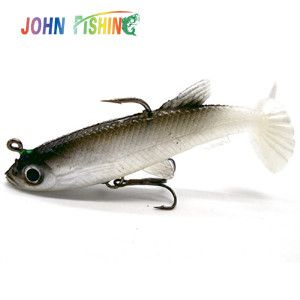 4pcs Fishing Lures Sea Fishing Tackle Soft Bait Lead Fishing Artificial Bait Jig Wobblers Rubber Silicon Lure