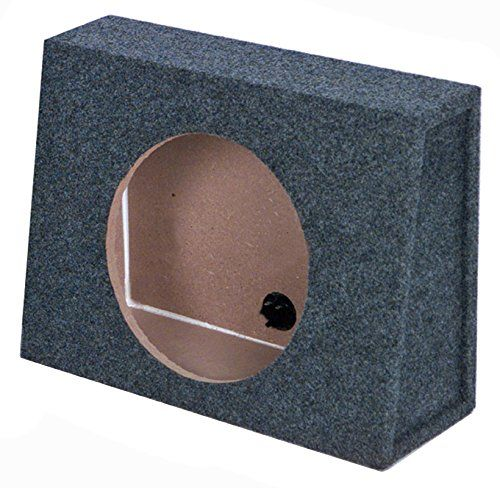 Q Power 10 Inch Single Slim Truck Shallow Sealed Subwoofer Box Sub Enclosure. For product info go to:  https://www.caraccessoriesonlinemarket.com/q-power-10-inch-single-slim-truck-shallow-sealed-subwoofer-box-sub-enclosure/