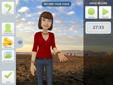 Tellagami (rhymes with origami) is a quick and easy way to create and share a fun short story called a Gami. Just select and customize a character. Personalize your Gami with photos and your own voice. Then share your Gami with friends. It's simple and easy to create in seconds!
