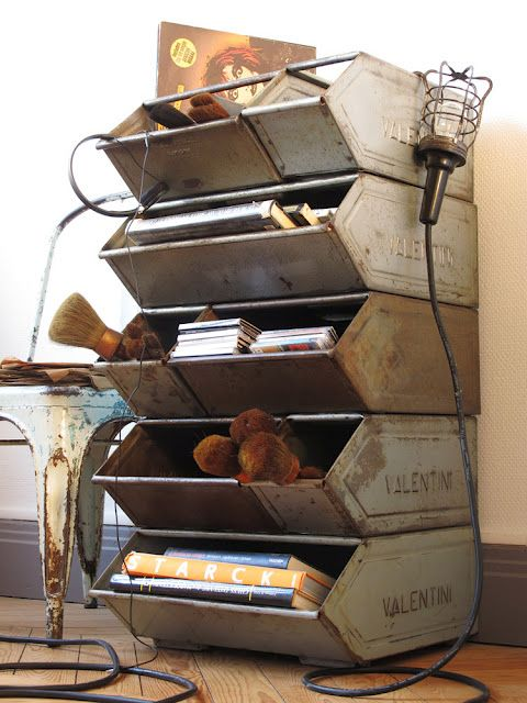 VINTAGE STORAGE If you like this then check out my shop for one of a kind handmade art and decor items https://www.etsy.com/shop/SalehDesigns?ref=si_shop industrial chic vintage reclaimed up cycled repurposed game of thrones gears steampunk welded steel sculptures eclectic decor