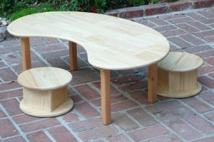RIE furniture designs made from pine. Recommended by Janet Lansbury, for babies eating at floor table and I love the stools that can be tables too!