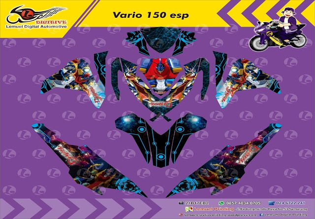 Custom Decal Vinyl Striping Motor Full Body Honda Vario 150 Thema New Yu Gi Oh Berkualitas by DIGITIVE #Blogging101 #DecalVinylStripingMotorFullBody #DIGITIVE #KreatifitasLeMuel #LeMuel #ProdukProdukKreatifLeMuel #StripingMotorFullBody #StripingMotorVario #StripingMotorSemarang