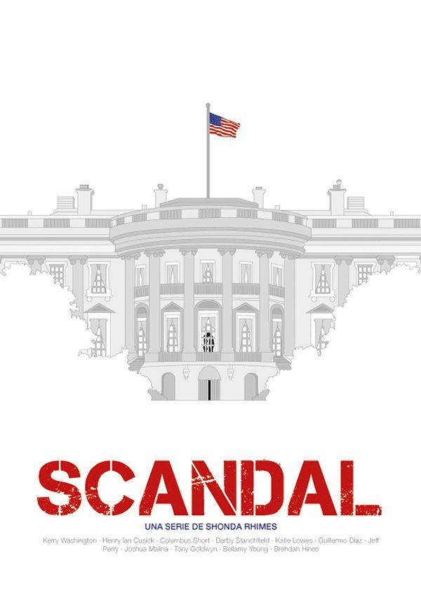 Scandal tv show, vectorial illustration