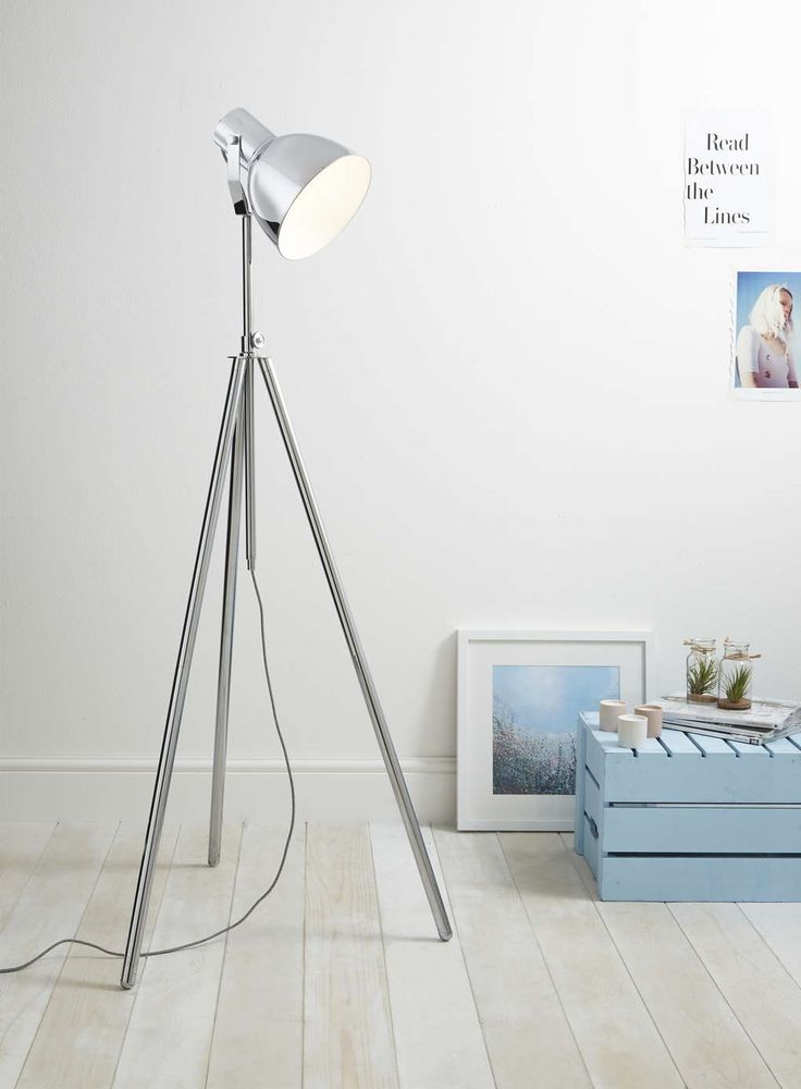 Photo 4 of Chrome Chad floor lamp