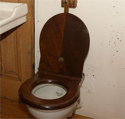 WALNUT TOILET SEAT