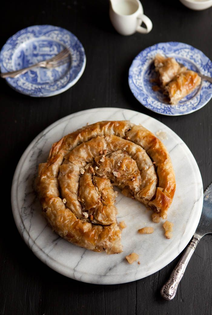 Apple Phyllo Pie with Maple & Pecans | drizzleanddrip